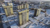New microdistrict with the newly houses in the city Стоковые видеозаписи