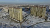 New buildings in a new area of the city Стоковые видеозаписи