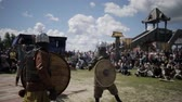 bojiště : Two knights fight with each other on the battlefield