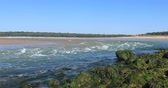 побережье : Strong current on the Payre estuary (Talmont-Saint-Hilaire, France)