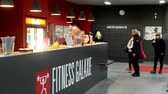 interior : Bar or reception of fitness center with customers