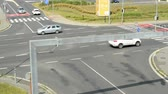 corner : view from above at intersection in the rush hour - timelapse Stock Footage