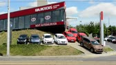 kia : CZECH REPUBLIC, PRAGUE - JULY 10, 2015: The view of the showroom in the center of the city - car exhibition