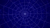 complexidade : concentric cobwebs on a blue background