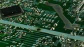 computer chip : Electronic printed circuit board. Old monitor. Electronic Elements. Stock Footage