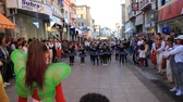 Gabrovo, Bulgaria, October 5, 2018. 6Fest Gabrovo 3 is held for the third time. Youth street festival. Young people dance, paint and play in the streets of the city. Fun and cheerful,