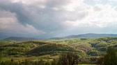 clouds moving over Carpathian mountains time lapse