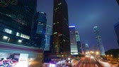 tower : evening light traffic road 4k time lapse from hong kong Stock Footage