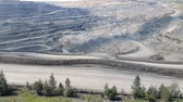 çukur : Panorama of the coal mine. View of the quarry, Panning pit in the ground, Aerial view