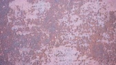 corrode : Metallic rusty texture with shabby paint Stock Footage