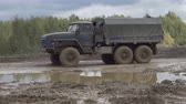 haki : Army Staff Russian truck driving on dirt road