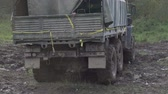 caqui : Army Staff Russian truck driving on dirt road