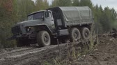 экспонат : Army Staff Russian truck driving on dirt road