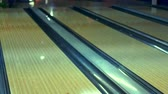 bowling alley : Bowling ball on bowling alley slow motion