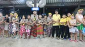 humor : Student 9-10 years old, Scout activities weave harmony, Auld Lang Syne song, Scout Camp in Pieamsuwan school Bangkok Thailand. Stock Footage