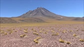 salário : Landscape of mountains and lake in Atacama desert Chile Stock Footage