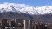 bulut : Aerial view of mountain snow and cityscape