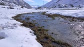 cold winter : Landscape of mountain snow and river flow