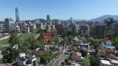 aerial landscape : Aerial view of a city in Chile