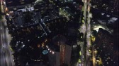 квартира : Aerial view of a city at night