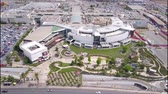 gardens : Aerial view of a Shopping center and a park
