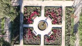 krajobraz : Aerial view of a rose garden