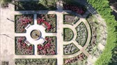 красный : Aerial view of a rose garden