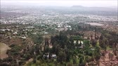 falu : Aerial view of a city and mountain range