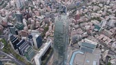 letecký pohled : Aerial view of a city and buildings in Chile