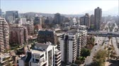 montáž : Aerial view of a city and buildings in Chile
