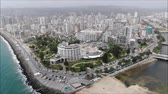 letecký pohled : Aerial view of a city and a beach in Chile