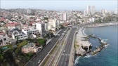 ptak : Aerial view of a city and a beach in Chile