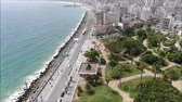 pássaro : Aerial view of a city and a beach in Chile