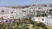 dokk : Aerial view of a city and a beach in Chile