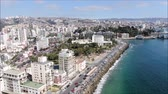 dovolená : Aerial view of a city and a beach in Chile