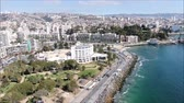 oldal : Aerial view of a city and a beach in Chile