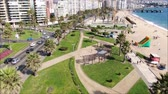 miasto : Aerial view of a city and a beach in Chile