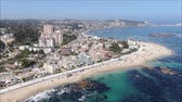 вид сбоку : Aerial view of a city and a beach in Chile
