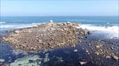 temporada : Aerial view of a rocky beach and ocean
