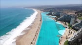 сезон : Aerial view of a beach and swimming pool