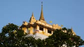 castello : Ancient architecture and Buddhist temple in Thailand Filmati Stock