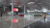 samolot : Istanbul  Turkey - November 13 2018: New Istanbul Airport Terminal. Third Istanbul Airport