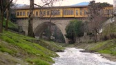 ponte : Historical and touristic Irgandi Bridge, Bursa, Turkey