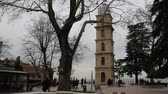 wandklok : Bursa  Turkey - January 25 2019: Bursa Clock Tower. Popular touristic travel Stockvideo