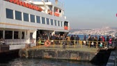 bosphorus : Passengers aboard the Bosphorus in Istanbul. Daily life in Istanbul Stock Footage