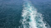 naturale : Waves behind the ship Stock Footage
