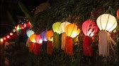 yee : Asian lanterns on vine fence