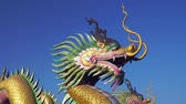 Šanghaj : Chinese Dragon with blue sky