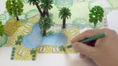 architectural model : Landscape architect design backyard plan for villa