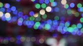 Defocused bokeh dansende licht in festival